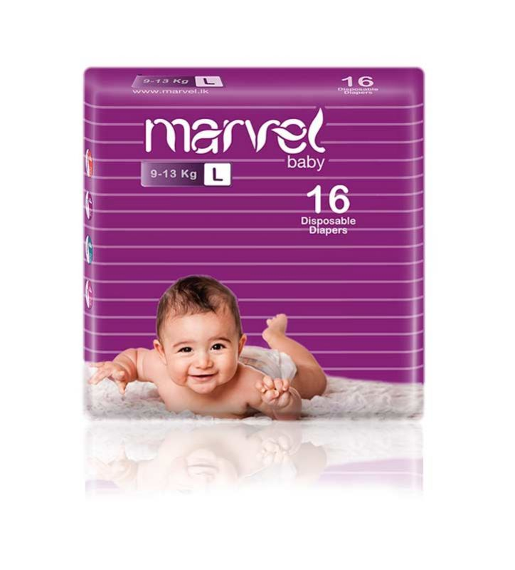 Marvel Baby Diapers 16 Pcs (L)