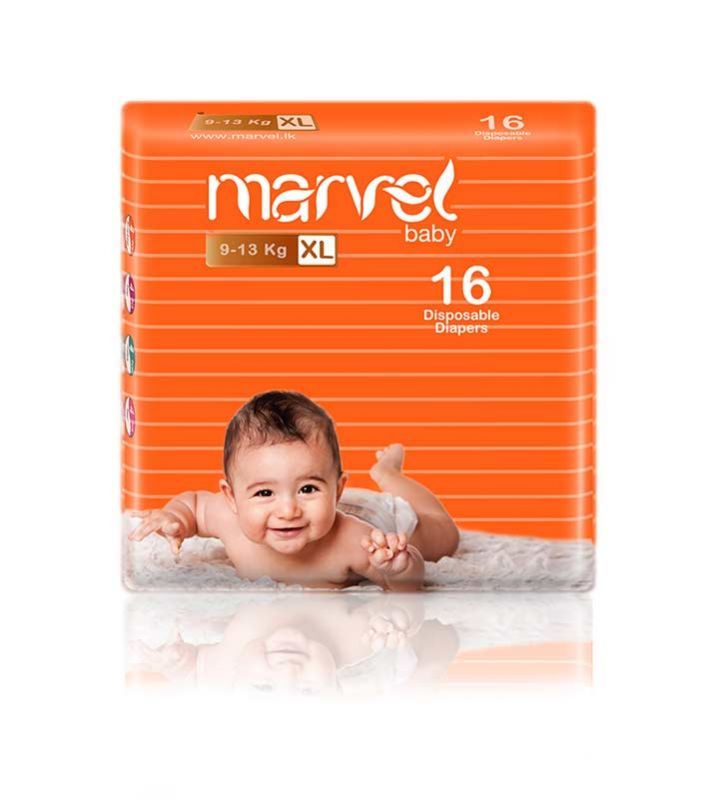 Marvel Baby Diapers 16 Pcs (XL)