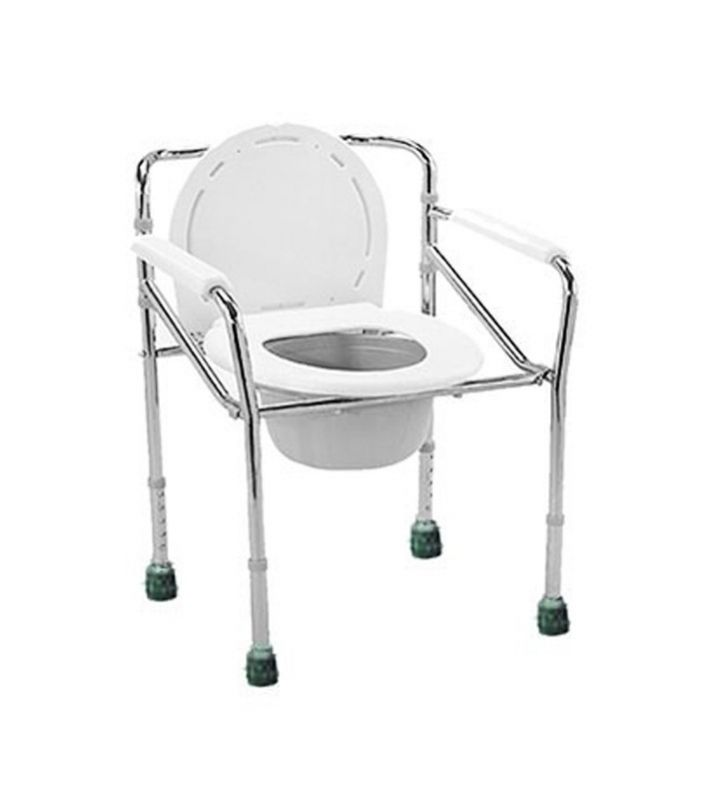 COMMODE CHAIR STANILES STEEL, WITHOUT WHEEL